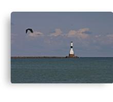 Conneaut West Breakwater Lighthouse Canvas Print