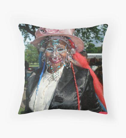 Elaine's new hat ! Throw Pillow