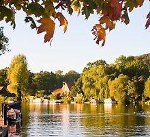 Late Afternoon at Hambleden Lock by Paul Davey