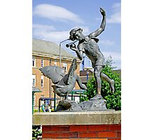 Boy and the Goose Statue, Derby Photographic Print