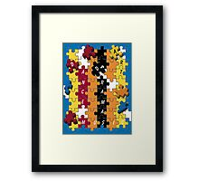 Puzzle Twister Framed Print
