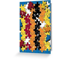 Puzzle Twister Greeting Card