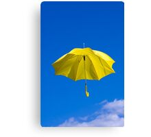 Umbrella and Sky Canvas Print