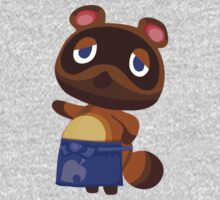 Tom Nook Animal Crossing Print Vector One Piece - Long Sleeve