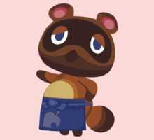 Tom Nook Animal Crossing Print Vector Kids Tee