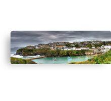 Port Isaac Panorama Canvas Print