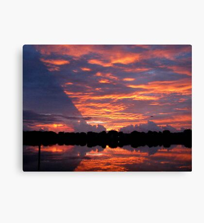 another boring sunrise Canvas Print