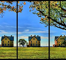 Officer's Row Triptych by DJ Florek