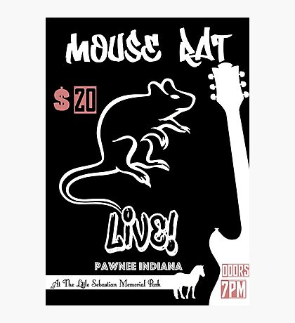 Mouse Rat Concert Poster Photographic Print