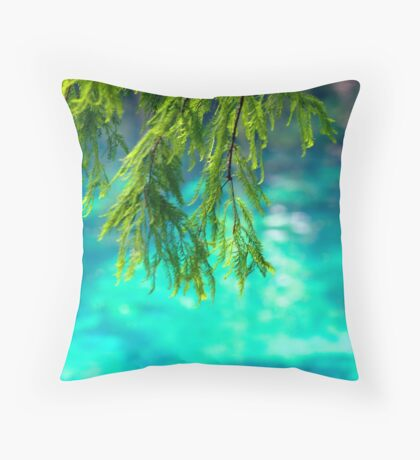 Cypress Leaves Throw Pillow