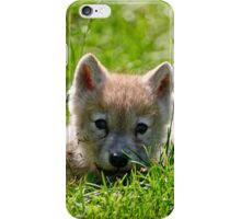 If they could only stay so young - Arctic Wolf Pup iPhone Case/Skin