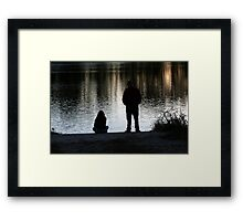 Chatting with Grandpa Framed Print