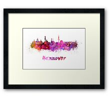 Hannover skyline in watercolor Framed Print