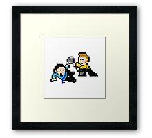 8bit Spock Kirk Amok Time no text Framed Print