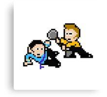 8bit Spock Kirk Amok Time no text Canvas Print