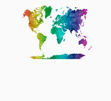 World map in watercolor rainbow Unisex T-Shirt