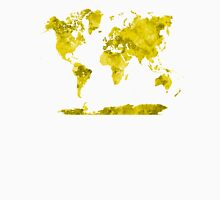 World map in watercolor yellow Unisex T-Shirt