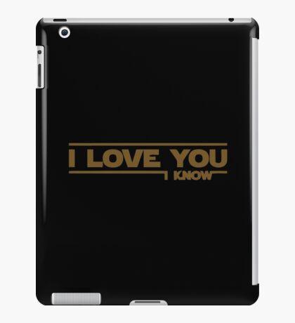Star Wars - I Love You iPad Case/Skin