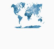 World map in watercolor blue Unisex T-Shirt