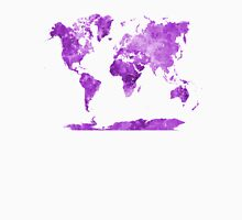 World map in watercolor purple Unisex T-Shirt