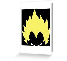 dragon ball z vegeta super saiyan anime manga shirt Greeting Card