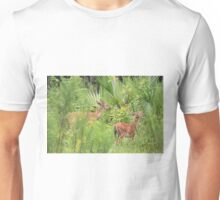 Mom With Her Baby Fawn Unisex T-Shirt