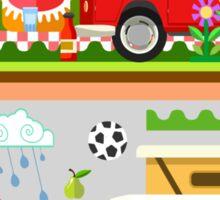 Summer Holiday 3D Picnic Flat Set Sticker