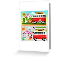 Summer Holiday 3D Picnic Flat Set Greeting Card