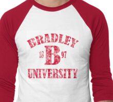 Bradley U  Men's Baseball ¾ T-Shirt
