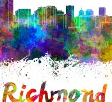 Richmond skyline in watercolor Sticker