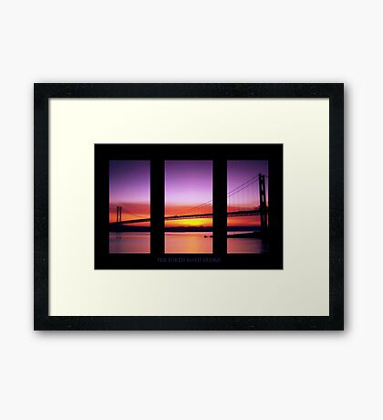 Sunset Over The Forth Road Bridge Framed Print