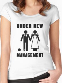 Just get married under new management geek funny nerd Women's Fitted Scoop T-Shirt