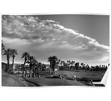 DESERT GOLF DREAM - BW Poster