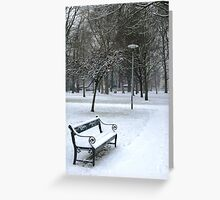 Snowy scene in Utrecht Greeting Card