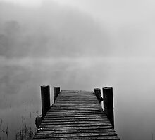 Jetty in Fog by southsideimages