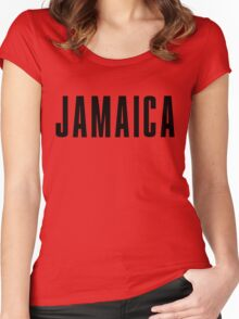 Iconic Jamaica Shirt Women's Fitted Scoop T-Shirt