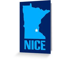 Minnesota nice geek funny nerd Greeting Card