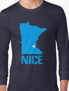 Minnesota nice geek funny nerd Long Sleeve T-Shirt