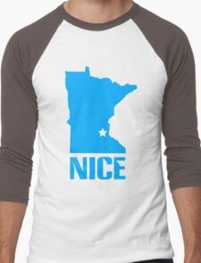 Minnesota nice geek funny nerd Men's Baseball ¾ T-Shirt