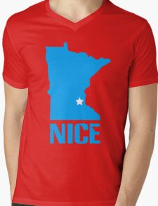 Minnesota nice geek funny nerd Mens V-Neck T-Shirt
