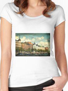 Helsinki Waterfront Women's Fitted Scoop T-Shirt