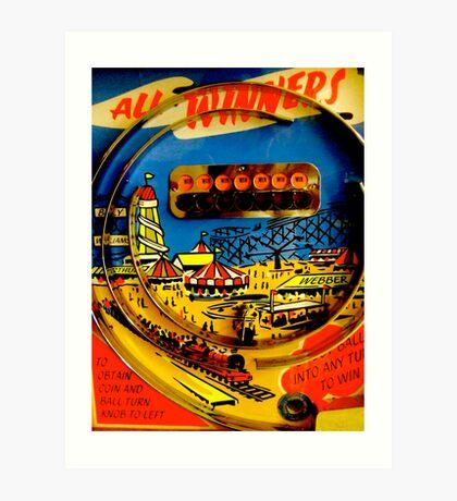 """All winners"" Penny Arcades Art Print"