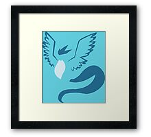 pokemon articuno anime manga shirt Framed Print