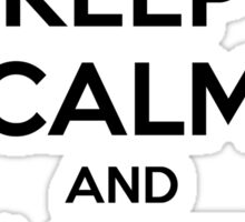 KEEP CALM AND LOVE THEATER Sticker