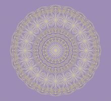 Lotus Mandala in Lavender and Gold by Lena127