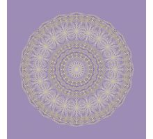 Lotus Mandala in Lavender and Gold Photographic Print