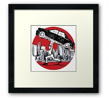 Pedestrian Up Car Framed Print
