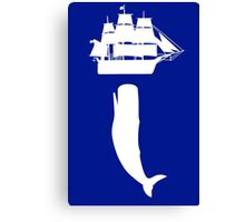 Moby dick rising geek funny nerd Canvas Print