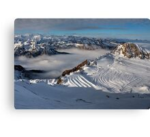 Winter on Kitzsteinhorn 52 Canvas Print