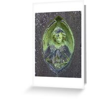 Grey Stone Angel Greeting Card